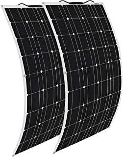 XINPUGUANG 2pcs 100w Solar Panel Flexible 200W Solar System Kit MC4 Connector Charger for 12v Battery Canbin RV Car Boat Charge