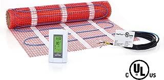 7.5 sqft Mat Kit, 120V Electric Radiant Floor Heat Heating System w/ Aube Programmable Floor Sensing Thermostat