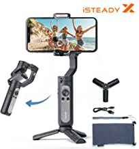 Hohem iSteady X 3-Axis Gimbal Stabilizer for Smartphone, AI Face/Object Tracking,Compatible for iPhone 11/X/XR/XS Samsung S10/S9-Black(with tripod)