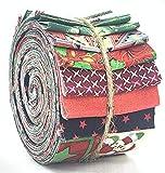 SEWCRAFTE Rollos de tela de jalea 100% algodón para acolchar, patchwork, costura, proyectos de arte y manualidades, paquete de 20 tiras (6,35 cm de ancho x 114,3 cm de largo) (noche encantadora)