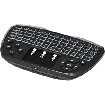 Gamogo Versión en español con retroiluminación de 2.4GHz Teclado inalámbrico Touchpad Control Remoto de Mano del Mouse 4 Colores de luz de Fondo para TV Box Smart TV PC Notebook: Amazon.es: Electrónica