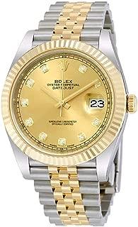 Rolex Datejust 41 Champagne Diamond Steel and 18K Yellow Gold Jubilee Mens Watch 126333CDJ
