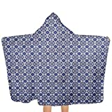ZHSL Kapuzenhandtuch für Kinder Dutch, Rhombus und Hexagons Weiches Baumwoll-Kinderhandtuch mit Kapuze für Kleinkinder, ultraweich, super saugfähig, dick, 51,5 x 31,8 Zoll