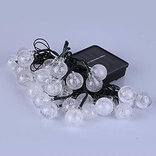 30 أضواء LED خارجية على شكل سلسلة شمسية بكرات نجمية مع 8 أوضاع تحكم لحفلات عيد الميلاد وحفلات الزفاف وأعياد الميلاد وديكور...
