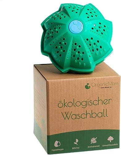 OrganicMom® Boule de lavage / savon de caillebotte sans huix personnes allergiques / Lavage sans détergent / Lavage n...