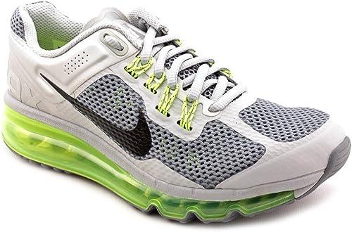 Nike air Max 2013 GS Chaussures de Course FonctionneHommest Femme gris Jaune
