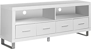 Monarch Specialties , TV Console with 4 Drawers, White, 60