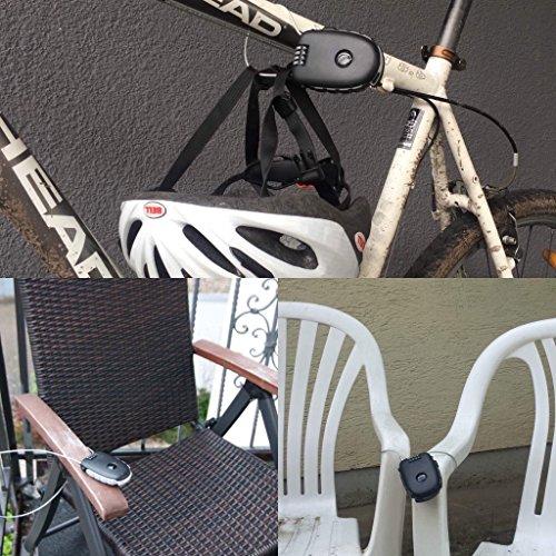SAFELOCKS Premium Zahlenschloss - Kabelschloss mit 90 cm langem Kabel - individueller Zahlencode - super leicht und kompakt - optimal zur kurzfristigen Sicherung von Fahrrad, Kinderwagen, Gepäck etc. - 3