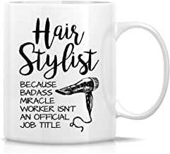 Retreez Funny Mug - Hairstylist Badass Miracle Worker isn't Job Title Hairdresser 11 Oz Ceramic Coffee Mugs - Funny, Sarcasm, Sarcastic, Inspirational birthday gifts for friends, coworkers, siblings