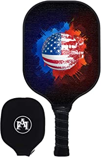 Y YOOMALL Pickleball Paddle, Graphite Carbon Fiber Face with Textured Surface, Honeycomb Polymer Core, Cushion Comfort Grip, Pickleball Racket with Cover Outdoor Indoor 8oz Verve