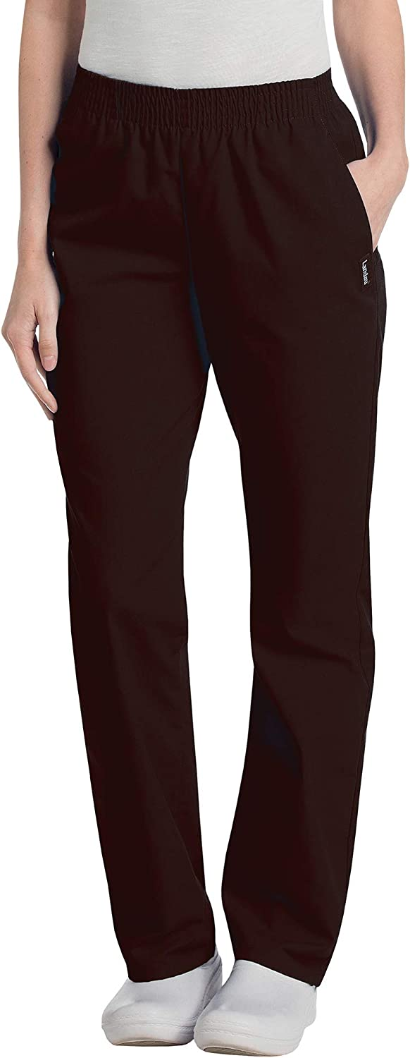 Landau Easy-to-use Women's Relaxed Fit 2-Pocket Waist Scrub 83 Pants Large-scale sale Elastic
