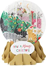 Up With Paper Pop-Up Holiday Snow Globe Greeting Card - Trimming Trouble