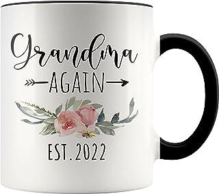 YouNique Designs Grandma Again 2022 Coffee Mug, 11 Ounces, Grandma Again Announcement Mug, Youre Going to Be A Grandma Aga...