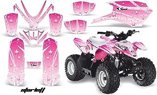 AMRRACING Polaris Outlaw 50 2005-2012 Full Custom ATV Graphics Decal Kit - Starlett Pink