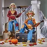 Halloween Decor Co. Dueling Banjo Skeletons Animated LED and Sound, Set of 2