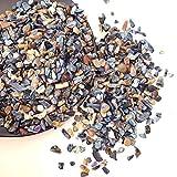 HOULAI Pequeña piedra triturada de cristal de cuarzo mineral, para acuario, maceta, jardín, decoración del hogar