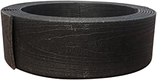 Abba Patio Edging Coil Recycled Plastic and Wood Composite Fence Garden Landscape Border, 5.3 Inches x 20 Feet, Black