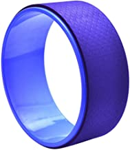 G-rf TPE + Alloy Yoga Wheel Back Training Tool (Purple) (Color : Blue)