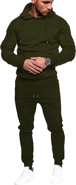 COOFANDY Men's Tracksuit 2 Piece Jo Max 62% OFF Sweatsuit Casual Las Vegas Mall Sets Hoodie