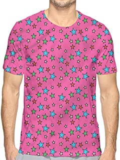 bybyhome Mens t Shirt Polka Dots,Regular Large Spots Old HD Print t Shirt