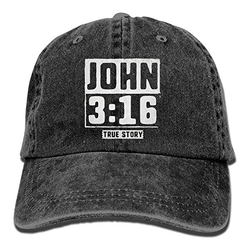 Novelcustom John True Story Christian Baseball Hat Men and Women Summer Sun Hat Travel Sunscreen Cap Fishing Outdoors