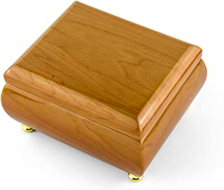 18 Note Natural Light Wood Tone Glossy Musical Jewelry Box - Over 400 Song Choices - Torna A Sorrento (Return to Sorrento)