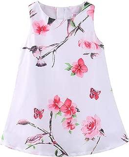 LittleSpring Girls Floral Jumper Skirt