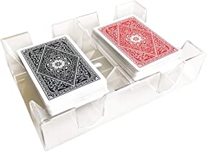 YH Poker Yuanhe Clear 2 Deck Canasta Playing Card Tray