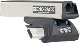 Compatible with: Jeep Liberty KK 4dr SUV with Roof Rails 2008 to 2012 - Rhino-Rack Heavy Duty CXB Silver 2 Bar Roof Rack