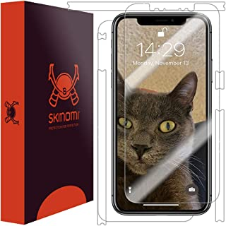 Skinomi Full Body Skin Protector Compatible with Apple iPhone Xs Max (6.5 inch)(Screen Protector + Back Cover) TechSkin Full Coverage Clear HD Film
