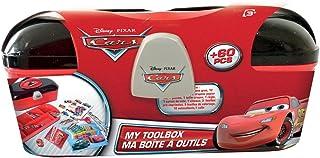 Boite à outils loisirs créatifs enfant Cars - Matériel de coloriage 2 compartiments séparés - Dès 3 ans - D'arpèje - CDIC013