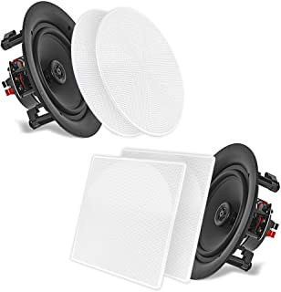 Pyle 25,4 cm Plafond Muur Mount Luidsprekers - Paar 2-weg Full Range Sound Stereo Speaker Audio Systeem Flush Ontwerp met ...