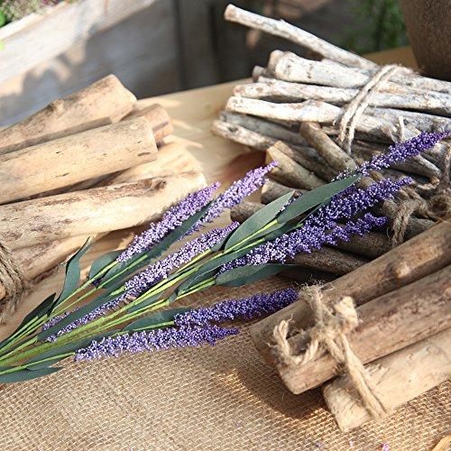 OSYARD Wohnaccessoires & Deko Kunstblumen,Unechte Blumen,Künstliche Lavendel Floral Gefälschte Blumen Wedding Bouquet Home Decor Haus Garten Party Blumenschmuck Silk Blumen Kunstblumen
