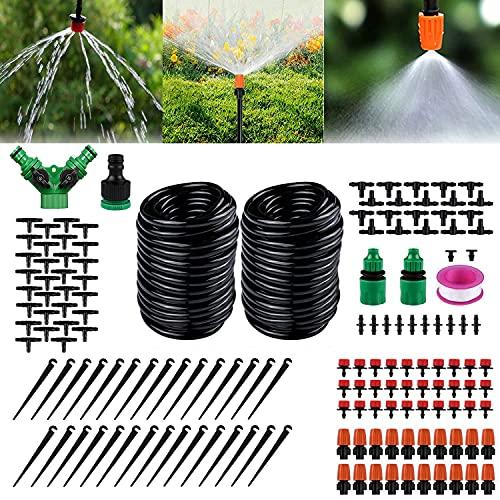 WELLXUNK 30M Bewässerungssystem Garten,149 Pcs Automatisches Bewässerung Kit,Automatische Sprinkler Tröpfchenbewässerung Kit,Gartenbewässerung Für, Blumenbeete, Obstbäume, Topfpflanzen