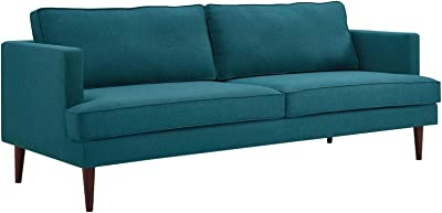 Modway Agile Upholstered Fabric Contemporary Modern Sofa In Teal