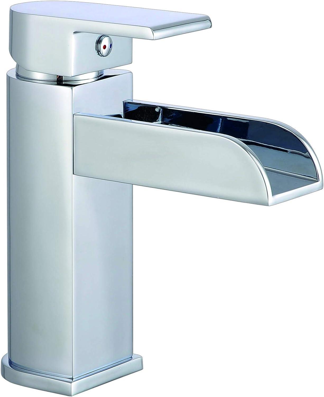 Waschtischarmatur - Chrom Armatur für das Bad · Hochdruck · Schwallauslauf     19090