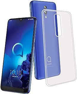 YZKJ Skal för Alcatel 3L 2019 skydd, mjuk mobilväska transparent TPU mobiltelefonfodral silikon ficka skal skyddsfodral fö...