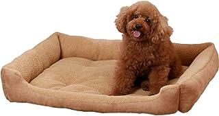سرير كلب كبير الحجم سرير كلب مستطيل بحجم كينغ سرير الحيوانات الأليفة آلة قابل للغسل لينة للتنفس قاعدة مقاومة للماء مانعة ل...