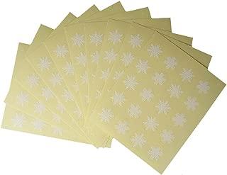 Bilipala 1 Inch Round Circle Kawaii Snowflakes Label Stickers Envelope Bag Seals, 10 Sheets