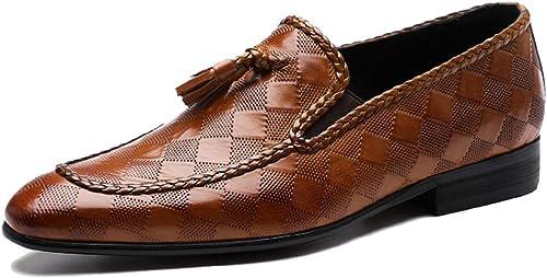 MLNQQ Lederschuhe für für für Herren Businessschuhe Kleid formelle Schuhe für Kirchenmode-Smoking,braun-46EU  angemessener Preis