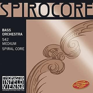 Thomastik-Infeld 3885.4 Spirocore Double Bass Single A String, 3/4 Size, Steel Core Chrome Wound