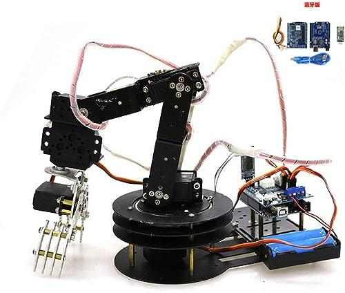B Blesiya Griffe de Bras Manipulateur Robotique Main Robot 6DoF pour kit Arduino WiFi -  19 Noir
