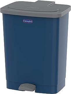 Cosmoplast IFHHLA338PB Plastic Step-on Pedal Trash Waste Bin, Pearl Blue, 17 Liters