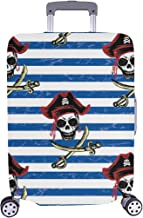 Pirates Hand Drawing Spandex Trolley Case Travel Luggage Protector Suitcase Cover 28.5 X 20.5 Inch