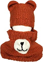 Jeash Toddler Kid Girl&Boy Baby Infant Christmas Crochet Knit Neck Hat Hairball Cap Elk Bear Xmas Cap
