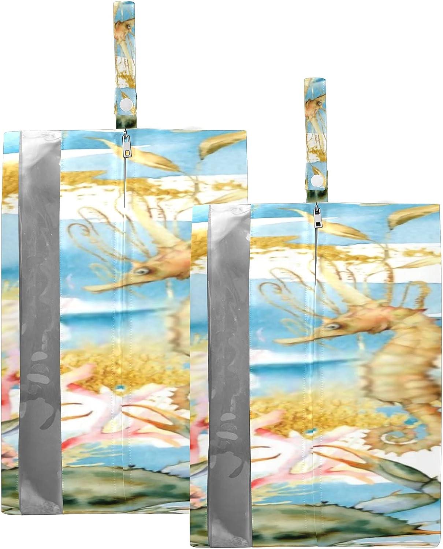 Gifts Max 43% OFF Waterproof Travel Shoe Bag Pack Zipper Underwater Animals Plants