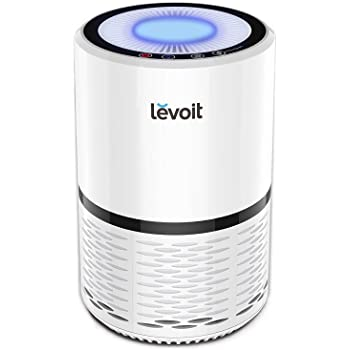LEVOIT Air Purifier for Home, H13 True HEPA Filter for Allergies and Pets, Dust, Mold, and Pollen, Smoke and Odor Eliminator, Cleaner for Bedroom with Optional Night Light, LV-H132, White
