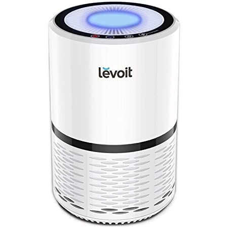 VIDEO Levoit LV-H132 Air Purifiers for Home with True HEPA Filter, Odor Allergies Eliminator for Smokers, Smoke, Dust, Mold, Pets, Air Cleaner with Optional Night Light, US-120V, White, 2-Year Warranty