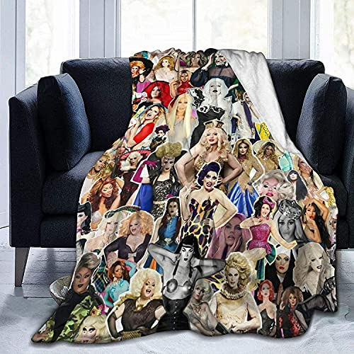 RuP-aul's Dr-ag Ra-ce Gifts for Women Throw Blankets Baby Warm ,for Sofa, Bed,Living Room, Durable Home Decor Flannel Blanket for Adult and Kids 50x60
