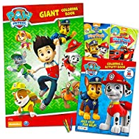 Paw Patrolカラーリングandアクティビティブックセット–- 2Jumbo Coloring Books (クラシックカラーリングセット) 1 Super Set Paw Patrol Party Supplies